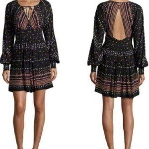Free People NWT Coryn Long Sleeve Mini Dress 0